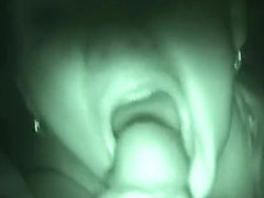Hawt tub act in night vision non-professional oral-service