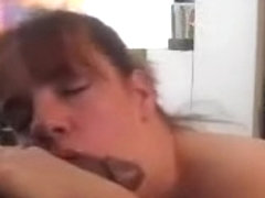 Cute chubby amateur slut is one nasty big-titted cock-sucker. She is having my black dick in her m.