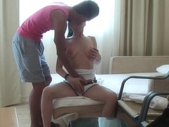 Margo & Aspen & Jocelyn in sexy girl with beautiful face enjoys hotel sex