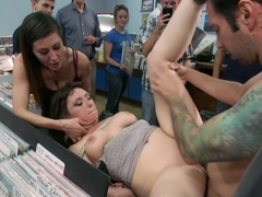 Pro Domme Submits for the First Time - In Public!