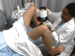 Female patient has her visit to the gynecologist recorded