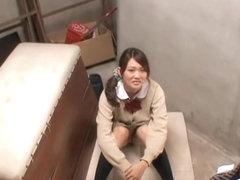 Amazing Asian teen sucks for cum in spy cam blowjob video