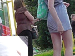 Young girl presents her voyeur upskirts goodies