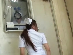 Horny japan sharking video with frightened and hot nurse