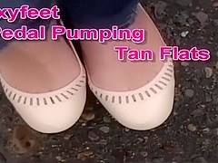 Tan flats pedal pumping