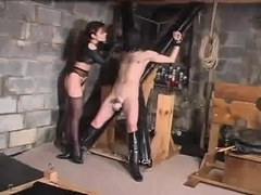 unmerciful dominatrix-bitch and her thrall