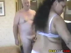 Thick Indian Prostitute With An Old Guy