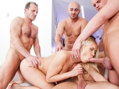 Lindsay Olsen, George Uhl, Leny Ewil in 4 On 1 Gang Bangs #03, Scene #02