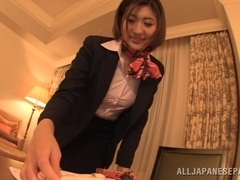 Yuna Shiratori amazing Asian milf fucks in a hotel