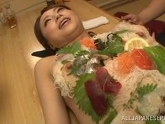 Akiho Yoshizawa naughty Asian milf gets public threesome