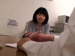 Blackmailed young japanese Wife in to the gym with the manager