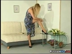 Russian Girl Wearing Pantyhose