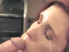 Mature Redheaded Vixens gets Mega Facial