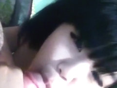 Very cute asian girl sucks her bf's cock and gets fingered