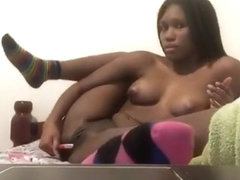 Africana angel playing with her cunt