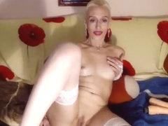 SMalefisenta in white stockings
