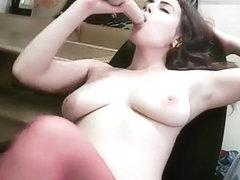 MalishLutik sucking rubber dick