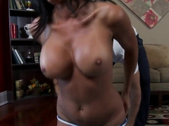 Busty Brunette Lezley Zen Gets Worked On After Yoga Class