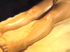 Seductive girlfriend's pelvis gets massaged by black man
