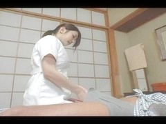 Busty Japanese babe nailed after a massage