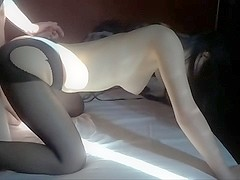 Hot asian sex video of a couple who likes it wild.