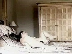 Breasty aged masturbates to romantic music