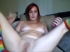 Frisky non-professional redhead white babe shows her cookie and butthole