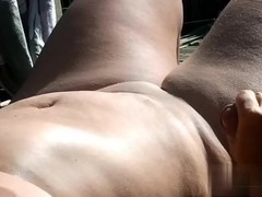 In Nature's Garb in the garden and i acquire a wicked tugjob cumming all over her