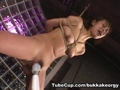 JapaneseBukkakeOrgy: Rina Takese Bondage