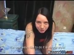 Russian Slut In A Threesome