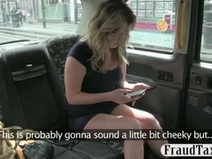 Chicky blonde honey stuffed real hard by fake driver