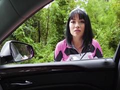 Rina Ellis In Half Asian Cutie Fucks for Ride