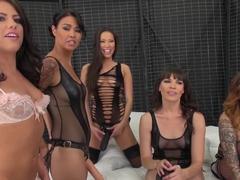 Incredible pornstars Kalina Ryu, Adriana Chechik, Karmen Karma in Crazy DP, Big Tits sex scene