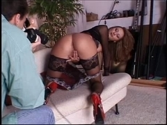 Marvelous tall anal blond