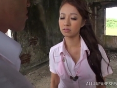 Kotomi Asakura naughty Asian babe in outdoor fuck session