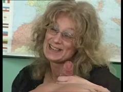 Granny in stockings slammed in the fanny