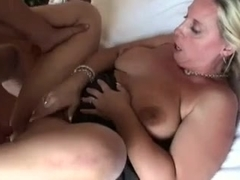 Hot MILF Squirts and Enjoys Hard Fuck While Tied