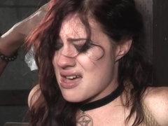 Bondage submissive flogged hard while tiedup