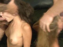 Crazy real mom daughter rough oral sex