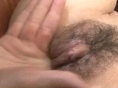 Creampie to end Hitomi Aizawas filthy porn show