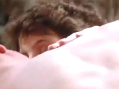 Young couple makes love in old movie clip