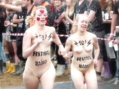Popular festival with naked mature men and women