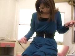 Delicious Jap crammed hard in voyeur medical fetish video