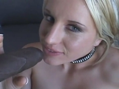 Pretty girl fucked by big black dick in every hole