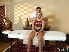 Beauty enjoys massage