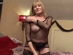 British granny getting her old cunt soaked