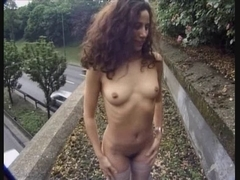 Horny slut from France strip in public then gets fucked