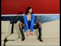 Emily shows her big butt in naked euro girls video
