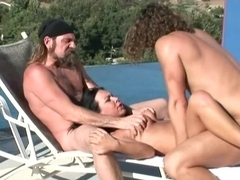 Double penetration in the mountains: Julie Night