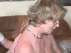 Granny Pretty Soon Receives Fucking More Good !